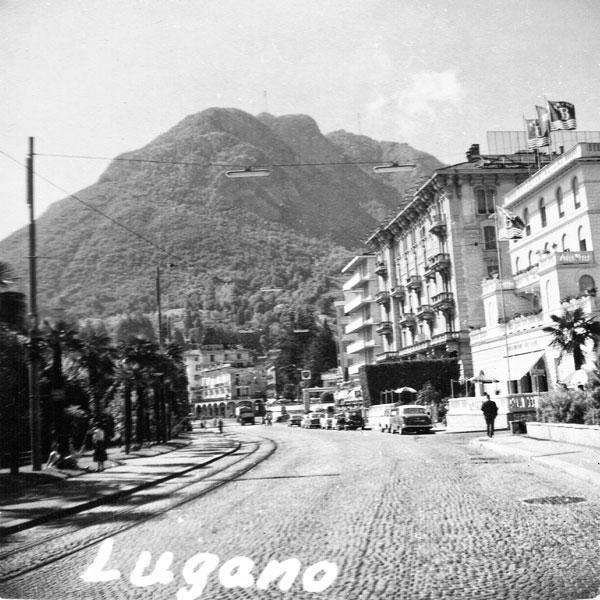 Gatumiljö i Lugano.