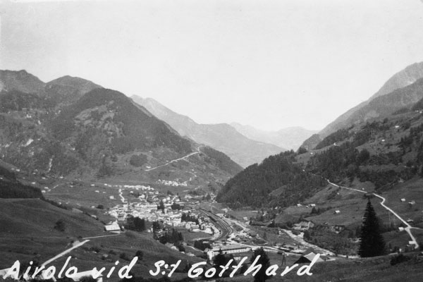 Airolo vid S:t Gotthard.