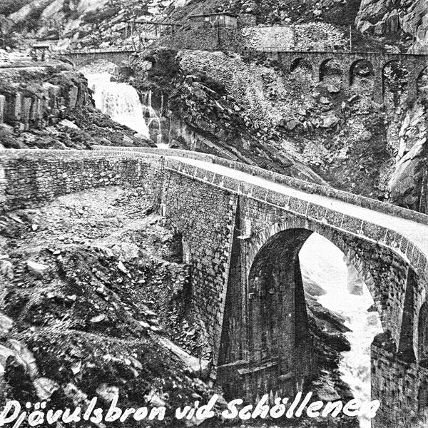 Djävulsbron vid Schöllenen.