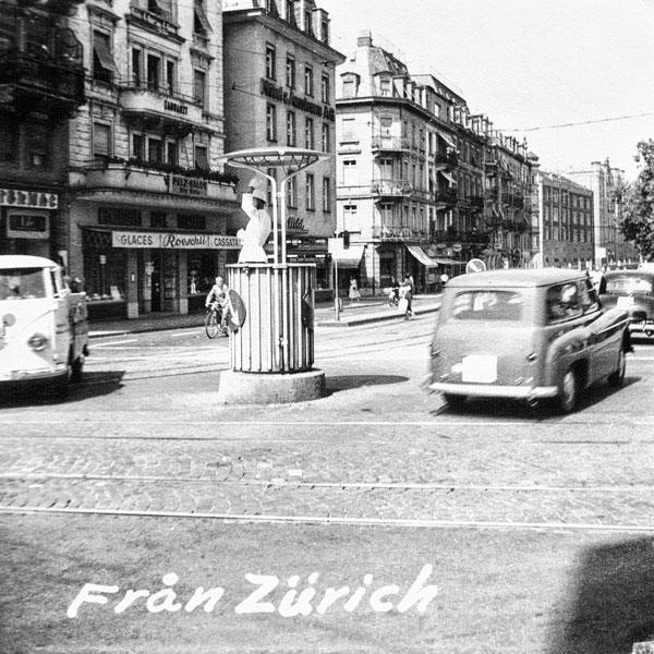 Gatumiljö i Zürich.