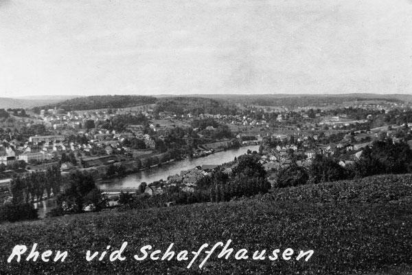 Rhen vid Schaffhausen.