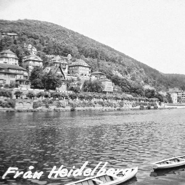 Heidelberg och floden Neckar.