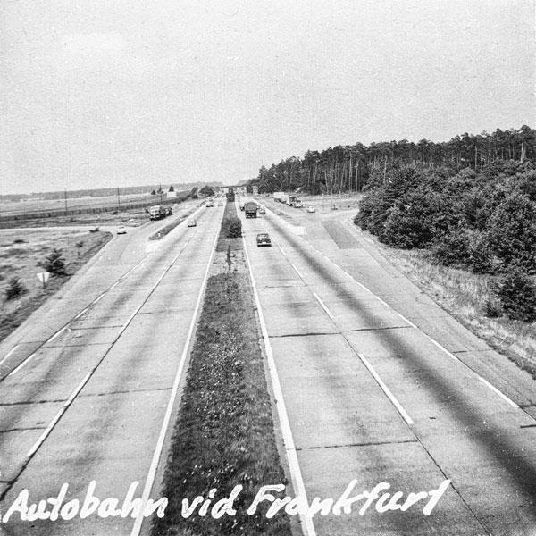 Autobahn vid Frankfurt am Main.