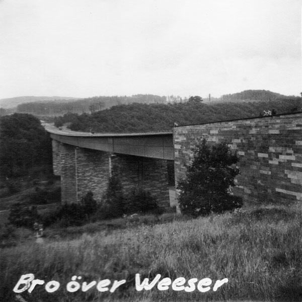 Bro över floden Weser.