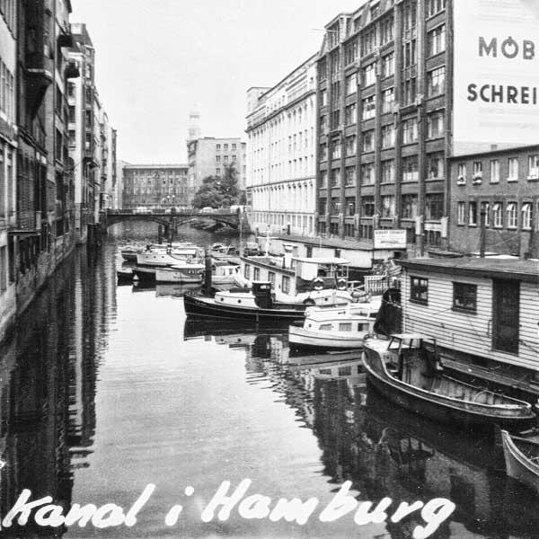 En kanal i Hamburg.