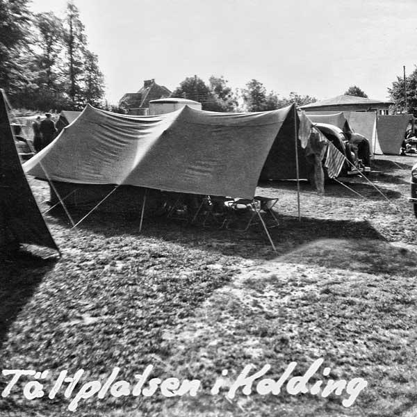 Tältet på campingplatsen i Kolding.