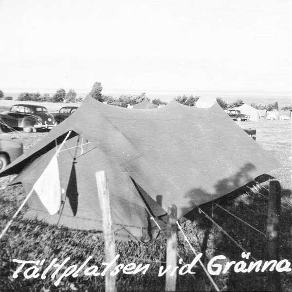 Sista tältplatsen, Getingaryds Camping i Uppgränna.