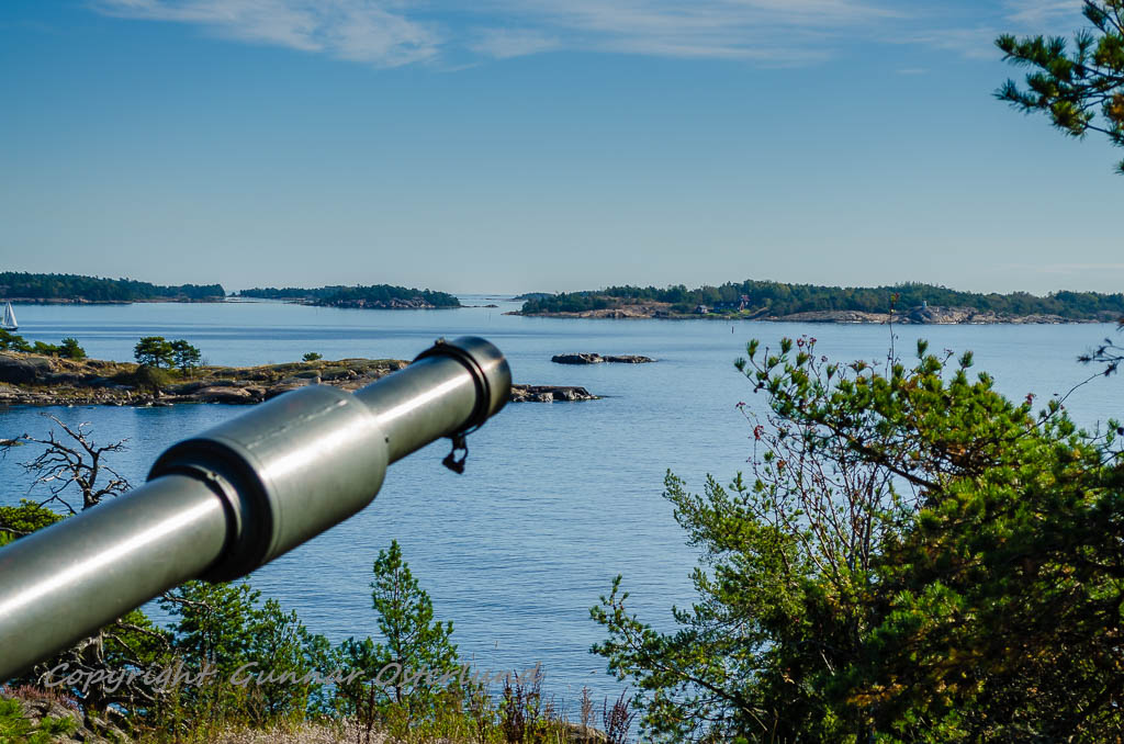 Utsikt från pjäs 1 över Östersjön mot Hävringe.
