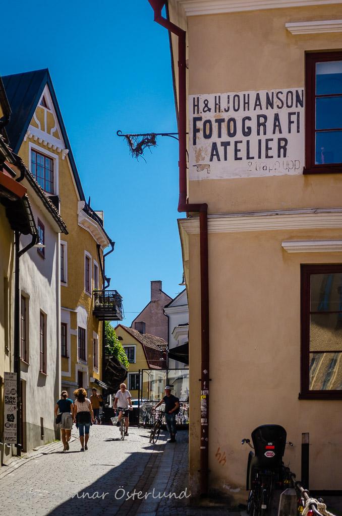 Gammal skylt i Visby.