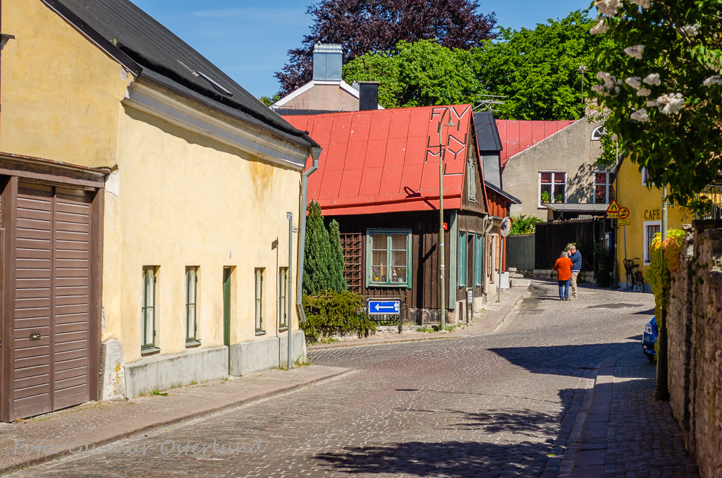 Gatumiljö i Visby.