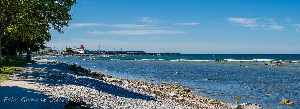 Strandpromenaden i Visby.