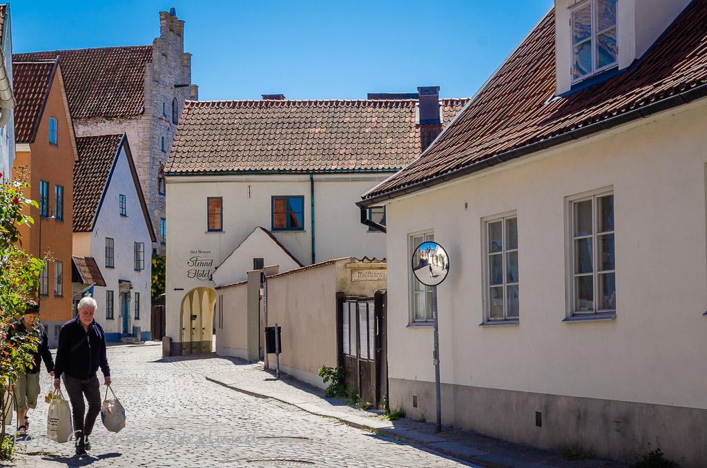 Stadsmiljö i Visby.
