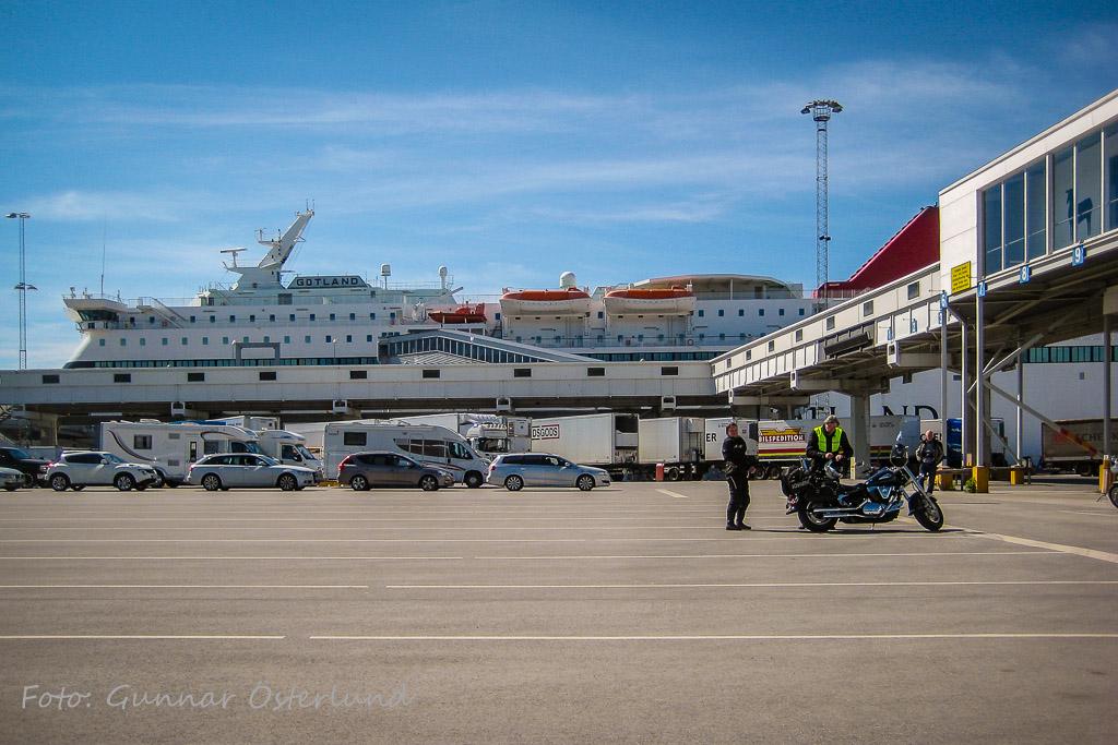 Färjan m/s Gotland i Visby hamn.