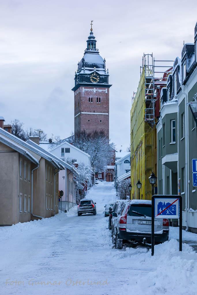 Domkyrkan i vinterskrud.