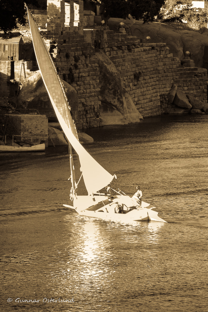 En felucka på Nilen vid Assuan.