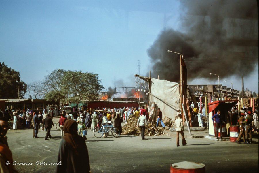 Brandrök i Kairo