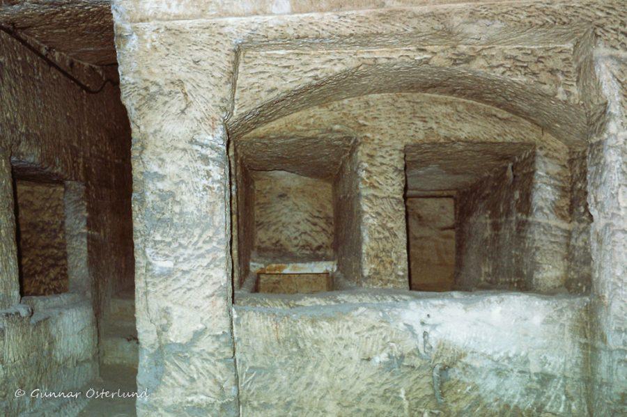 Innifrån Alexandrias katakomber.