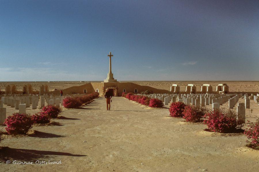 Den brittiska krigskyrkogården i El Alamein.