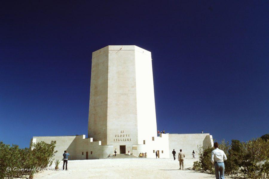 Den italienska krigskyrkogården i El Alamein.