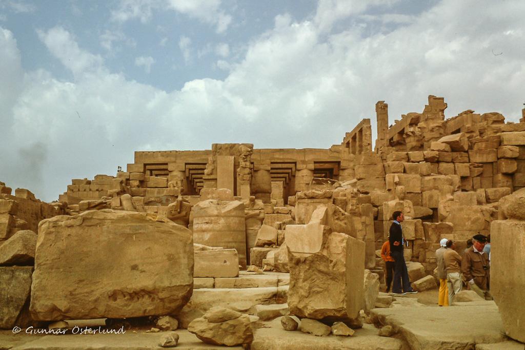 Gammalt tempel i Karnak, Luxor