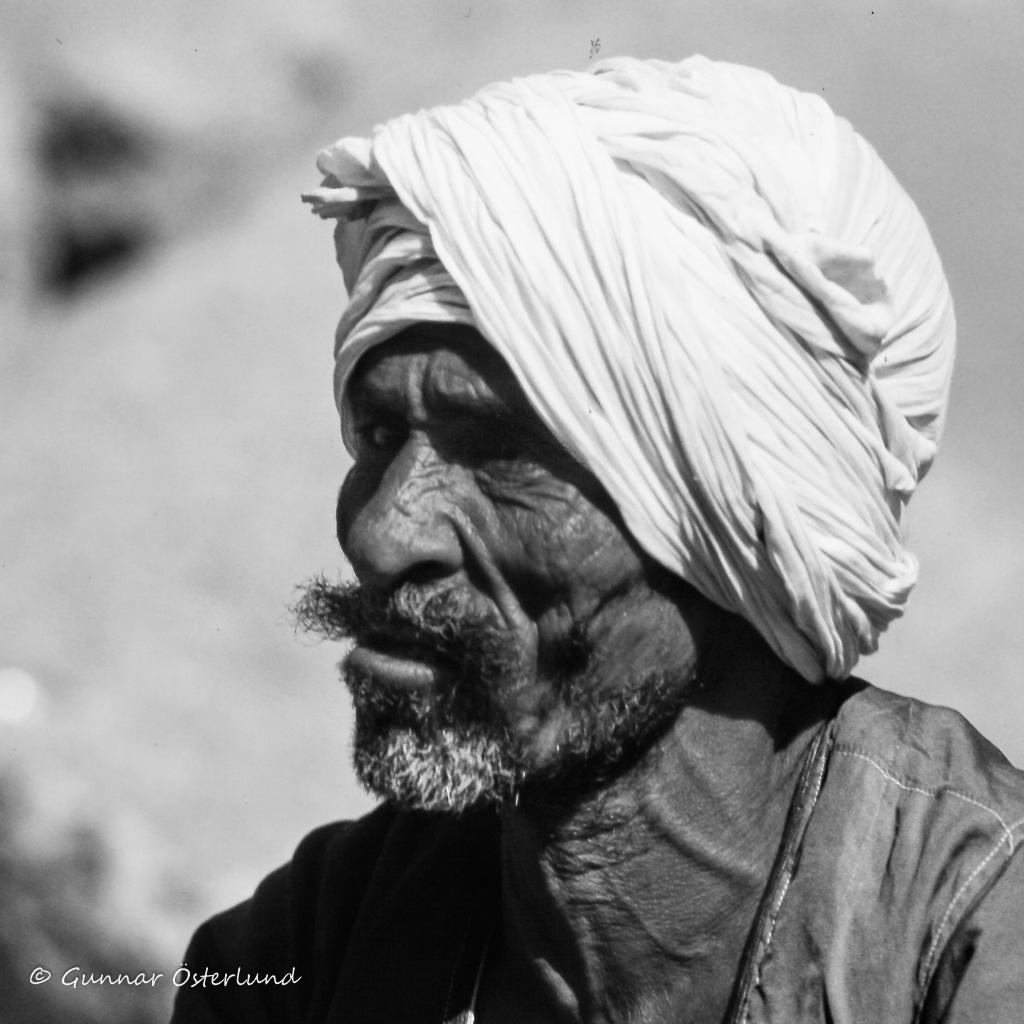 En egyptisk musiker i Luxor.