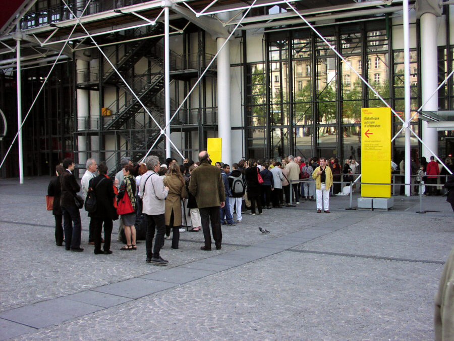 Kö vid Centre Pompidou.