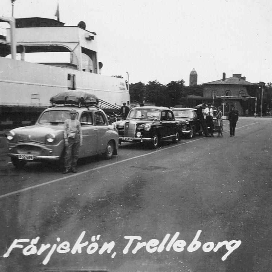 I färjekön, Trelleborg.