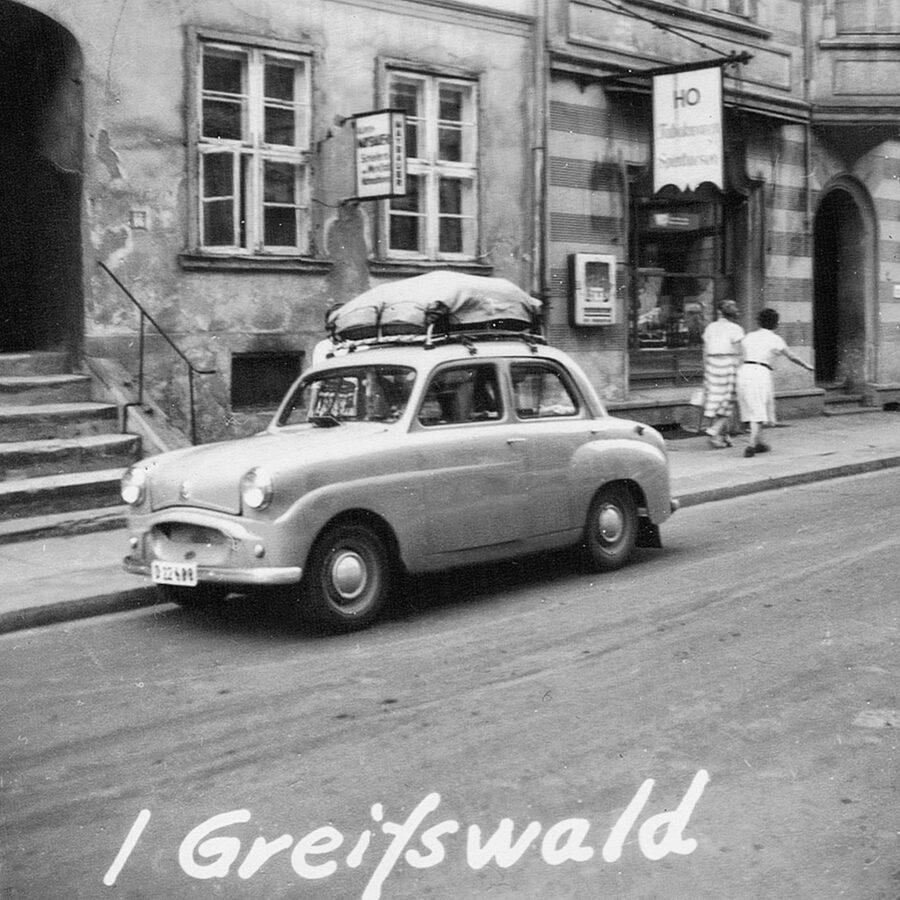 Bilen i Greifswald.
