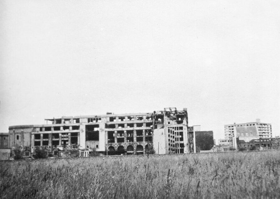Ruiner i Öst-Berlin.