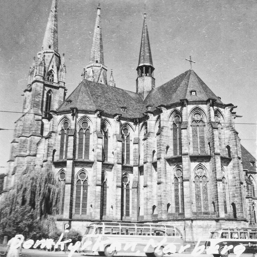 Domkyrkan i Marburg.
