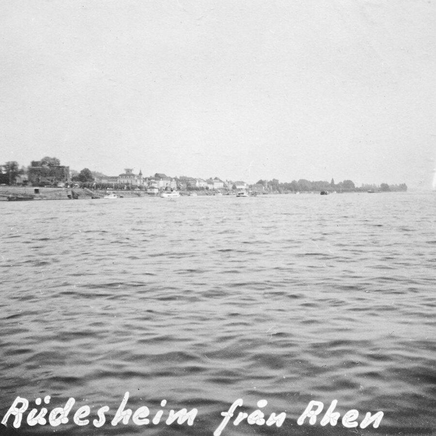 Rüdesheim sett från färjan.