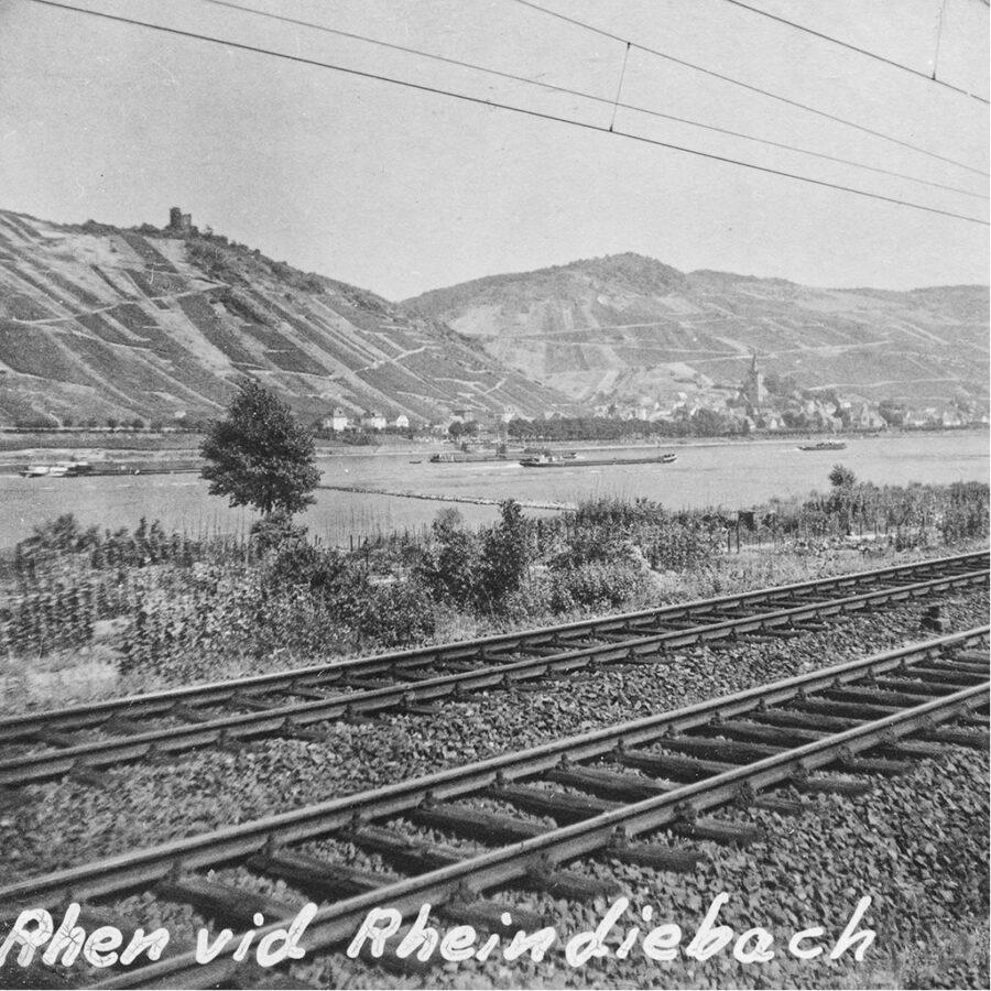Rhendalen med järnväg
