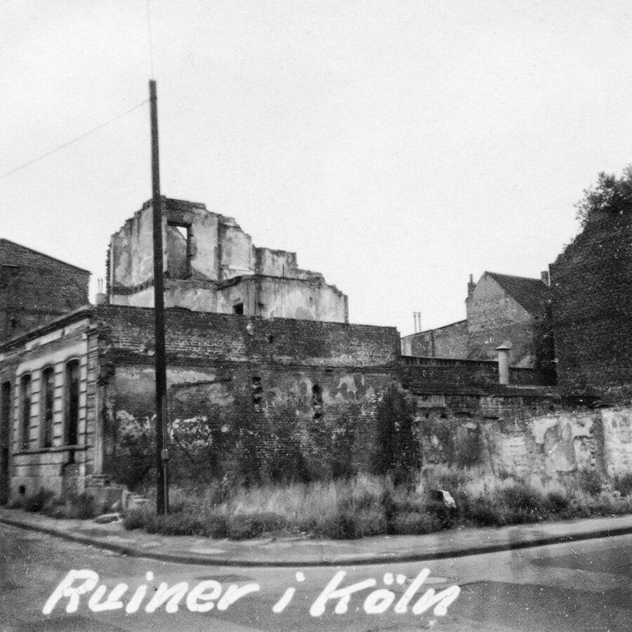 Det fanns fortfarande ruiner kvar i Bonn sedan andra världskriget.