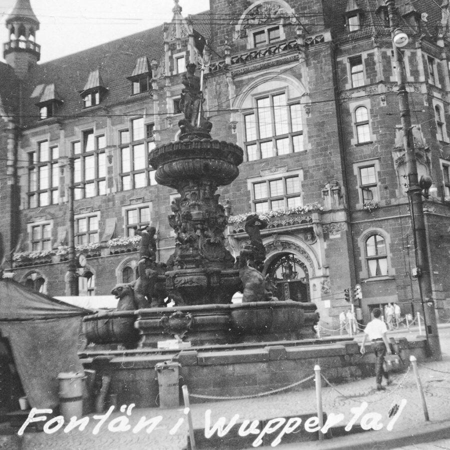 En fontän i Wuppertal.