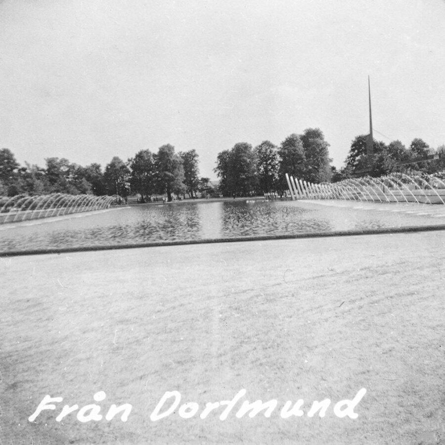En stor park i Dortmunds utkant.