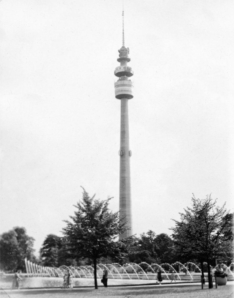 Radio- och TV-torn i Dortmund.