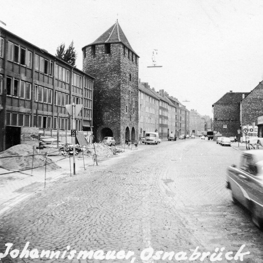Den gamla stadsmuren i Osnabrück.