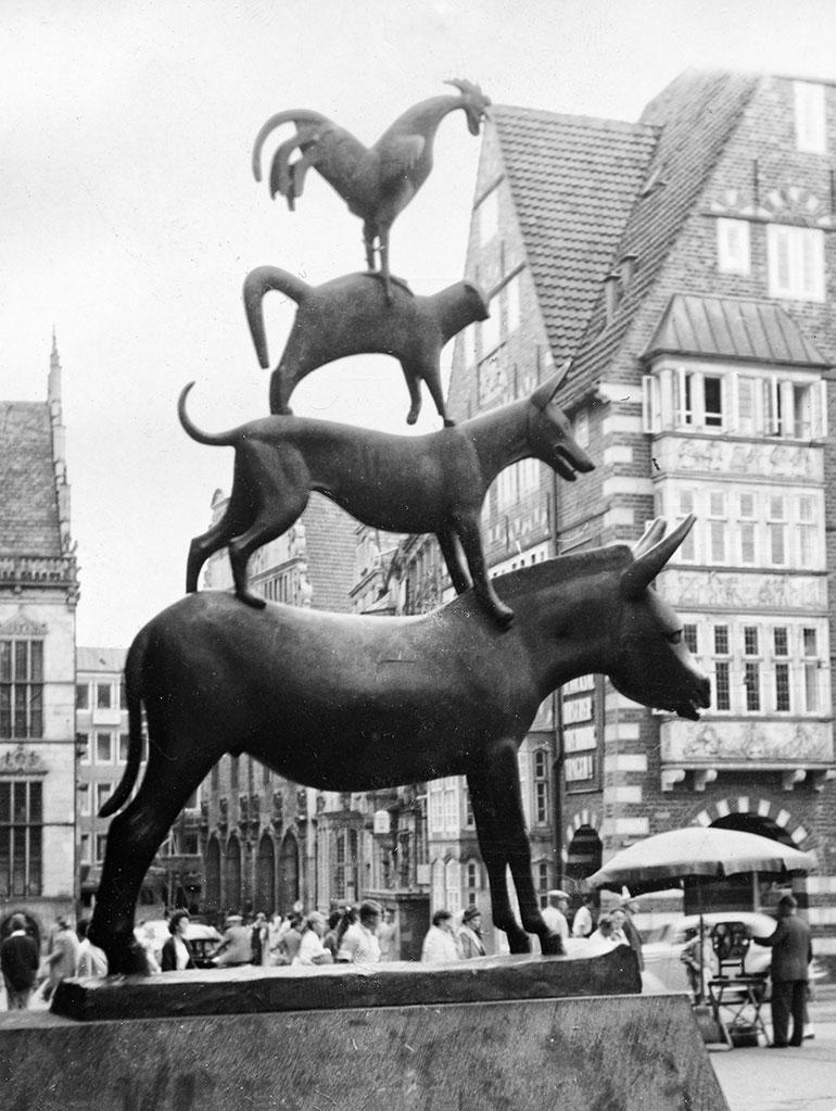 Stadsmusikanterna i Bremen.