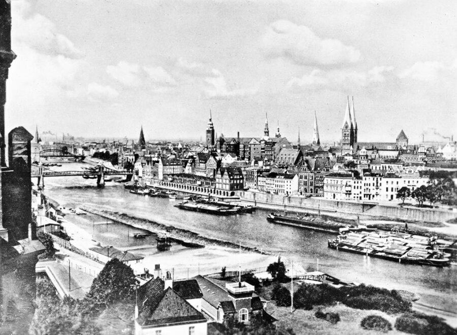Bremen och floden Weser.
