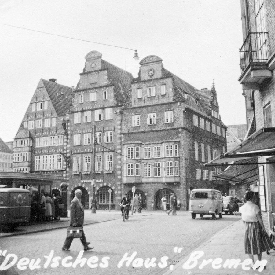 """""""Deutsches Haus"""" i Bremen."""