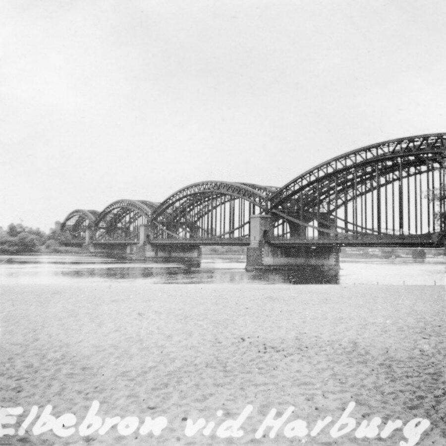 Bro över Elbe i Harburg.