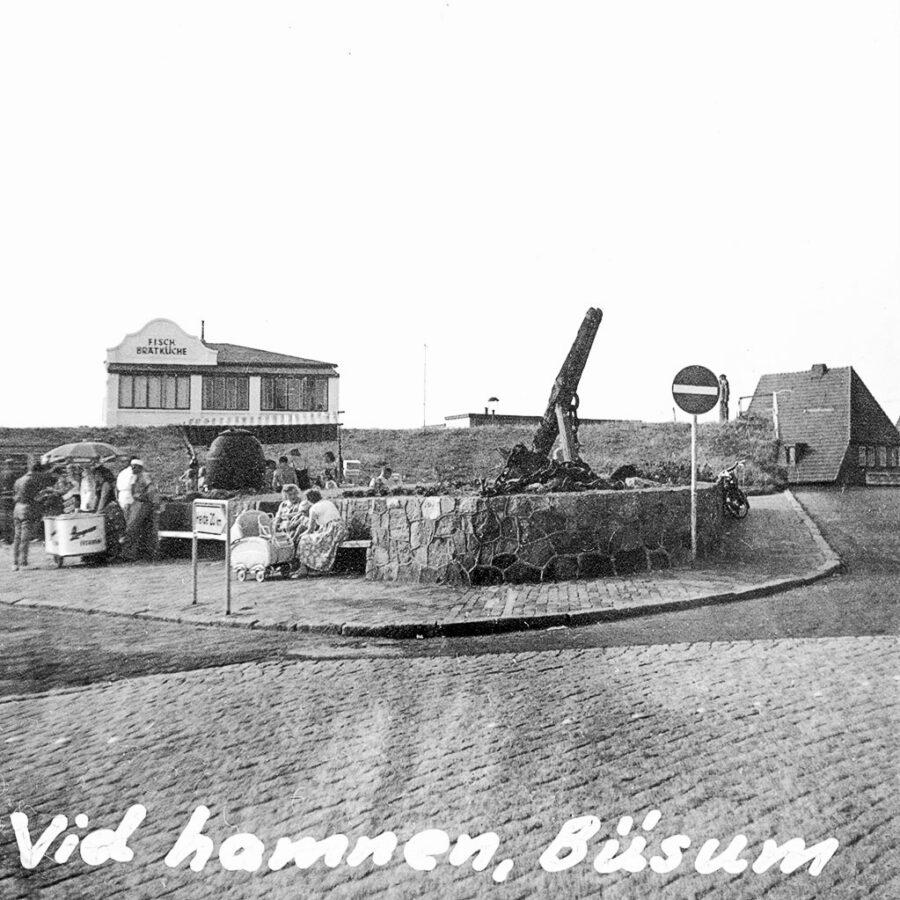 Vid den lilla hamnen i Büsum.
