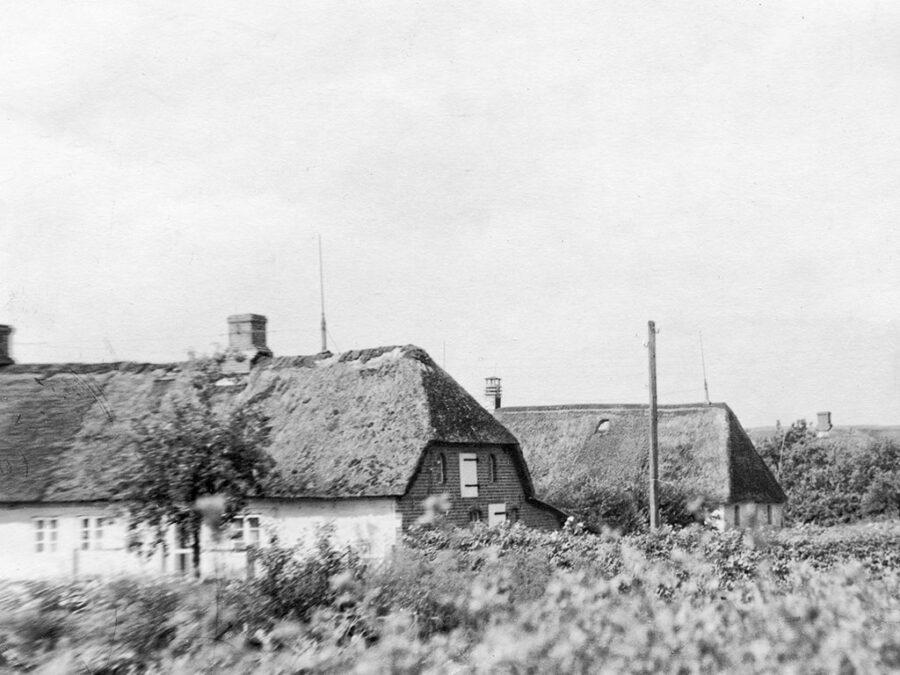Det fanns gott om hus med halmtak i Schleswig.