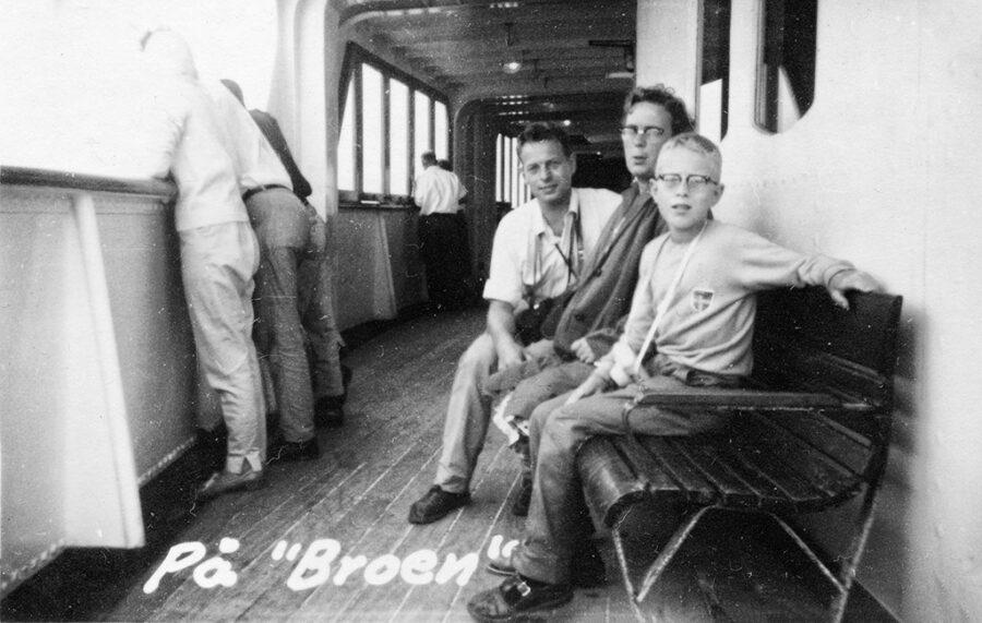 """Ombord på färjan """"Broen""""."""
