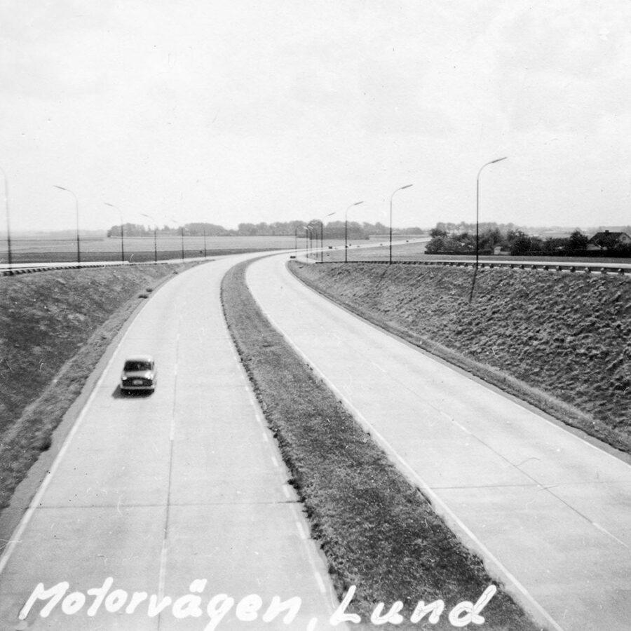 Sveriges första motorväg tog oss till Lund,