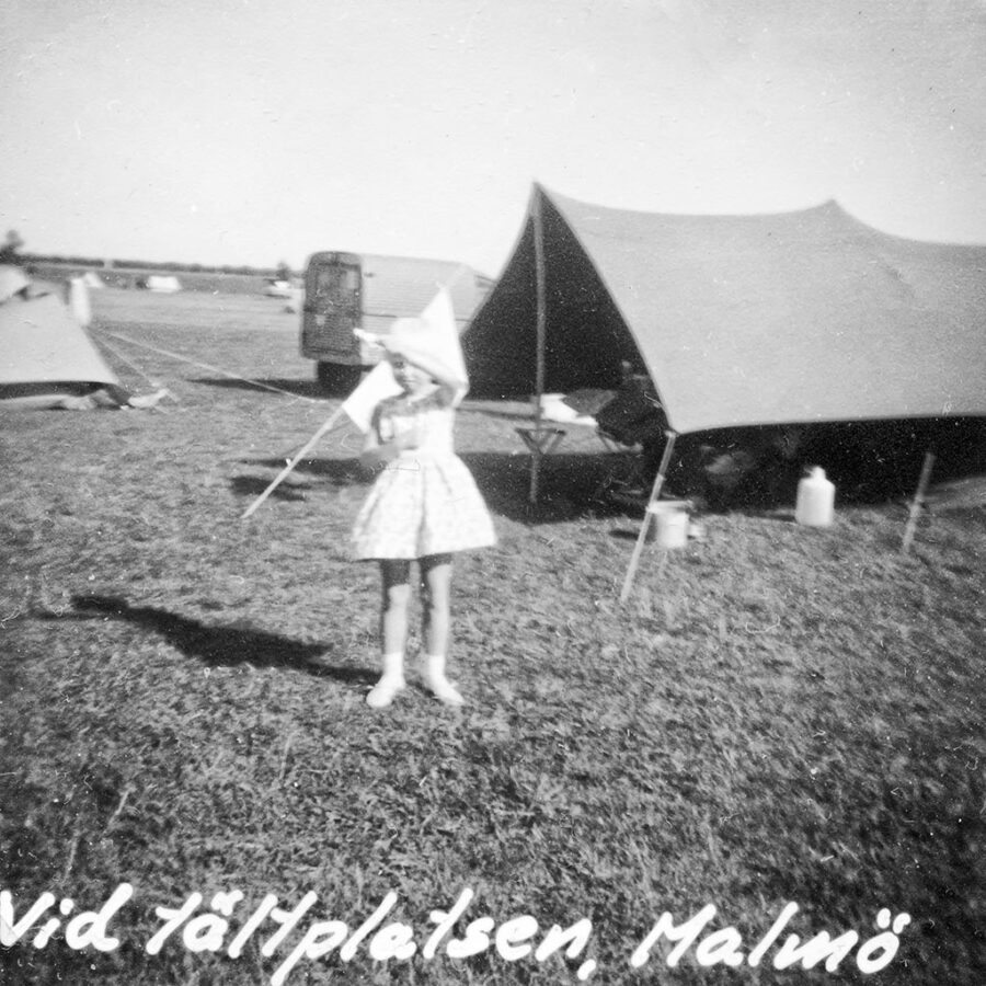 Vi övernattade på Ribersborgs camping i Malmö.