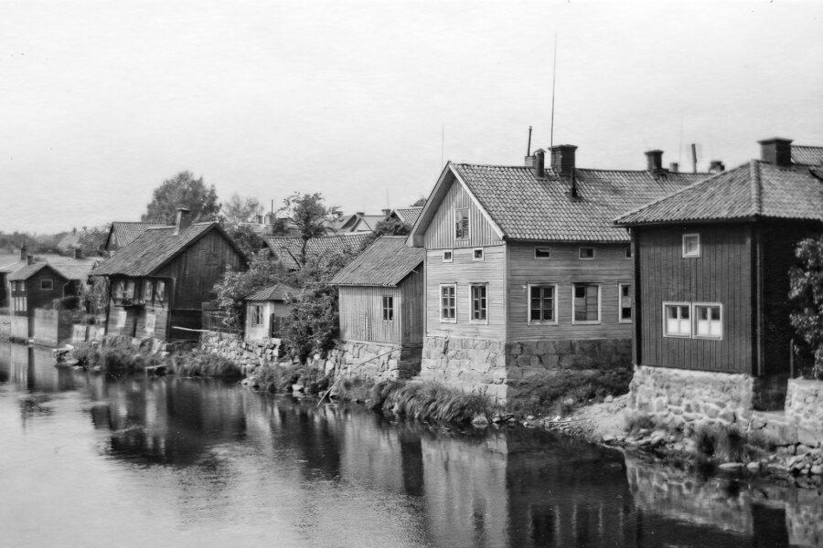 Gammal bebyggelse i Arboga.