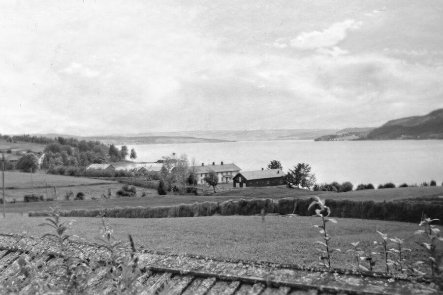 Utsikt över sjön Mjösa från Ringsbaker.