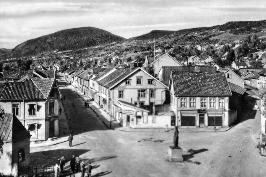 Storgaten och Lilletorget i Lillehammer.