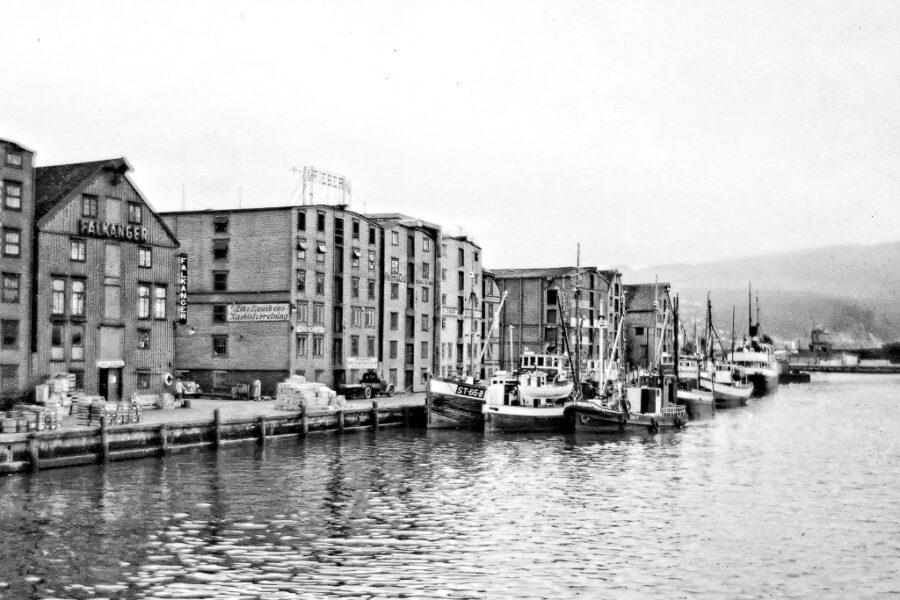 Hamnen i Nidälven, Trondheim.